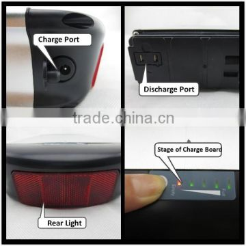 Hot sale,hangzhou factory, rear carrier 24V10Ah recharge battery for e bike with BMS and case
