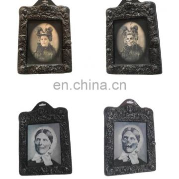 Halloween decoration frame with changing face horror portrait holographic Photo Frame