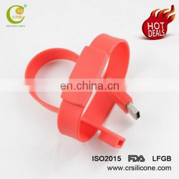 Newest Usb Flash Drive Silicon Wristband For Leisure Occasion