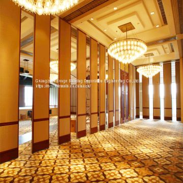 Mdf Material Office Furniture Movable Wall Track Flexible Partitions Banquet Hall Acoustic Room Divider