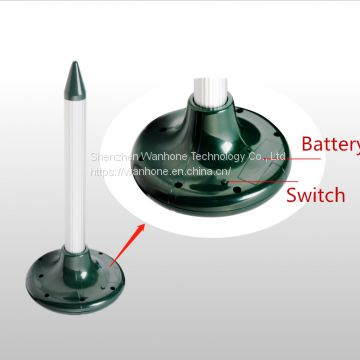 Solar Vibration Mole Repeller with Battery Box