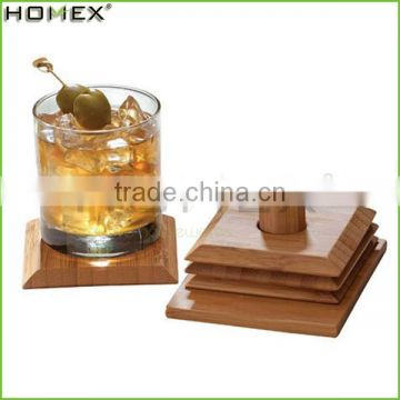 Bamboo coaster sets cup coaster cup mat Homex-BSCI Factory