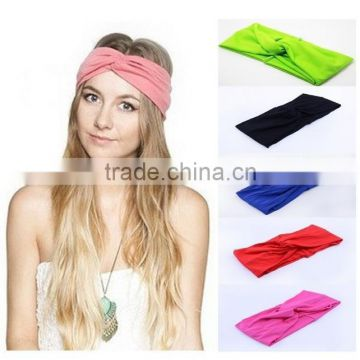 New 2014 Twist Sport Yoga Headband Bandana hijab Turban Headscarf Wrap For Women Hair Accessories