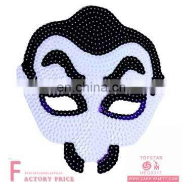 Zombie breathing female children kids Sequins mask with cute design for dress