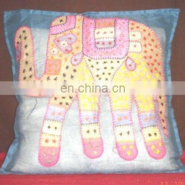 FLOWER PATCH WORK CUSHION COVER