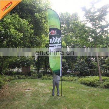 outdoor advertising beach flag with single and double printing