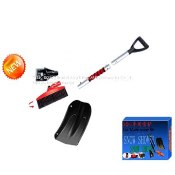 3 in 1 function car ice snow cleaning kit trunk shovel