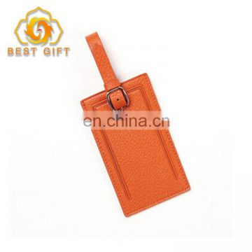 Custom Deisgn Embossed Opened Colorful PU Leather Luggage Tags