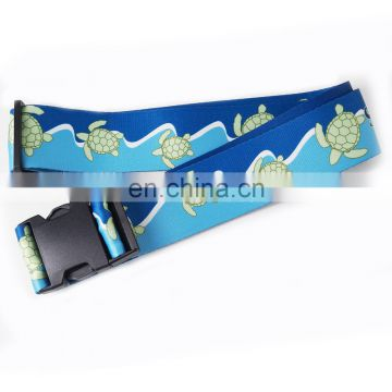 Promotional elastic luggage strap/luggage belt with plastic buckle