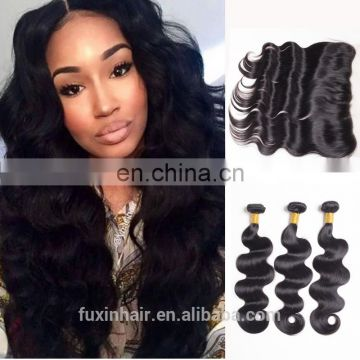 aliexpress malaysian cuticle aligned virgin hair Ear to Ear 13*4 frontal lace closure with bundles buy bulk hair