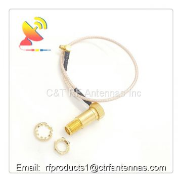 Custom RF connector SMA female connector to TS9 connector RF coaxial cable assemblies 150mm length