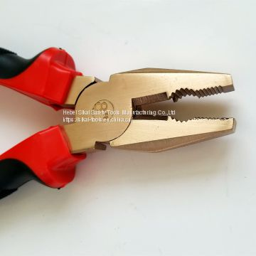 non sparking beryllium copper alloy combination pliers 8 inch