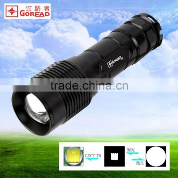 GOREAD Y61 aluminum T6 led light 26650 ZOOM high bright waterproof torch light