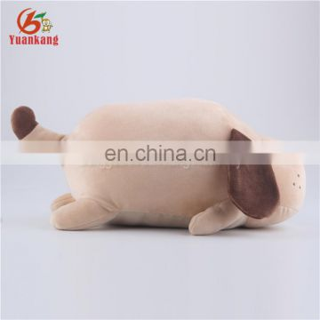 OEM Customized Super Soft Fat And Round Lazy Stuffed Animal Pillow Lying Sleeping Plush Dog Toy