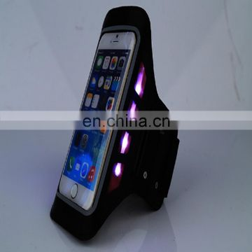 flashing led light armband for mobile phone