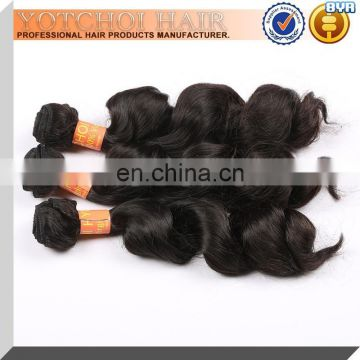 Factory Price Wholesale Pure Indian Remy Virgin Human Hair Weft 100% Natural Virgin Indian Remy Temple Hair For Cheap