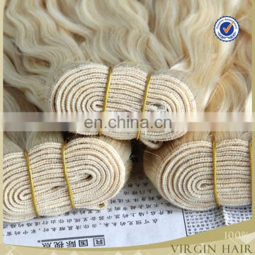 Grade 6 A brazilian remy hair blonde color big curly hair weave