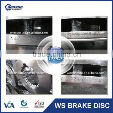High Performance DAF Truck Brake Disc 1640561