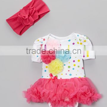 2016 Summer Baby Girls Bodysuit With Headband Infant Jumpers Cute Toddler Jumpersuit CS90425-20