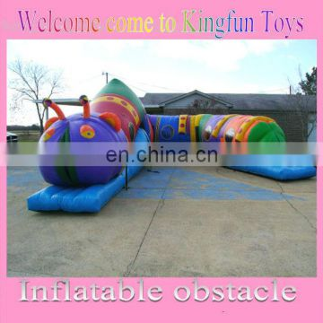 carpenterworm inflatable obstacle tunnel/inflatable playground