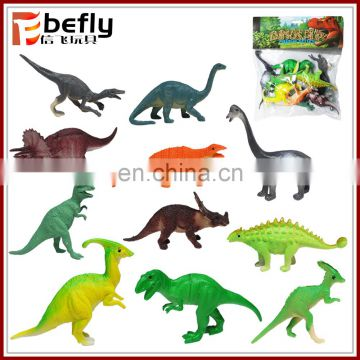 12 kinds mixed colorful PVC hollow dinosaur toy for kids