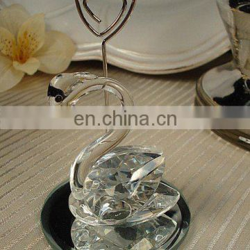 Place Card Holder Favor Crystal Swan