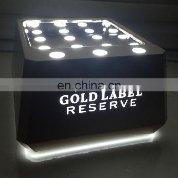 custom logo led bottle display led bottle glorifier