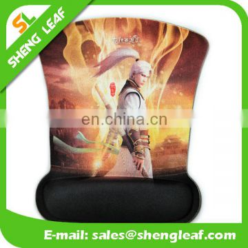 Gel printed mouse pad with wrist rest support