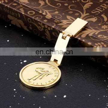 Custom metal simple logo plating gold computer accessory