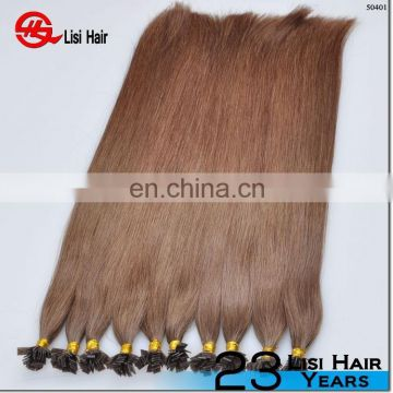 New Arrival Unprocessed Factory Price Top Quality Flat Tip Keratin Virgin Remy Brazilian Human Hair
