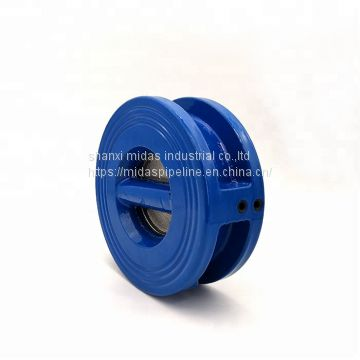 PN16 ductile cast iron di wafer type butterfly check valve