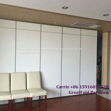 Free CAD Exterior And Interior Use Frameless Sliding Folding Glass Doors Glazed Partition Door For Office