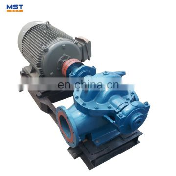 Split case water pump to flood drainage