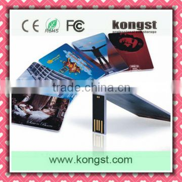 Stylish new colorful business gift credit card 2GB USB flash drive/pen drive/pendrive advertising gadget