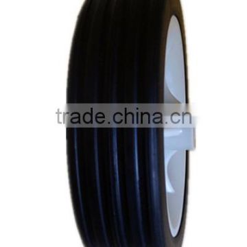 5 inch semi-pneumatic rubber wheels for shopping cart, bassinet, trolley handle luggage
