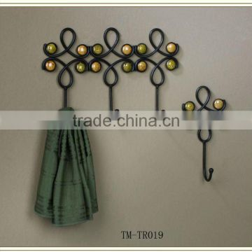 Hot Sell Scroll design iron wire metal hook