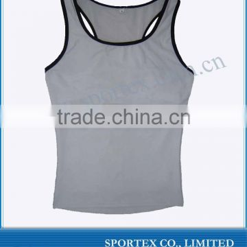 Sport vest / 100% Cotton Mens Blank sport Vest / gym vest