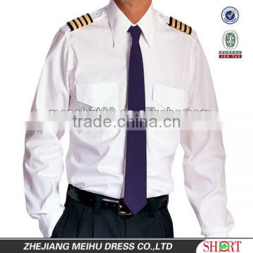 dda11881c95 2016 long sleeve and half sleeve with attached epaulettes men s pilot shirt  and pilot uniform manufacturer of Work Shirt from China Suppliers -  145008564