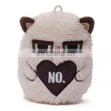 plush animal toy grumpy funny expression cat mini key chain