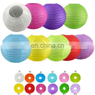 Chinese paper lantern with led light 9pcs 30cm size various colors per pack (support for custom pack) round led paper lantern