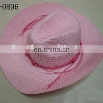 pink for ladies comfortable western hat