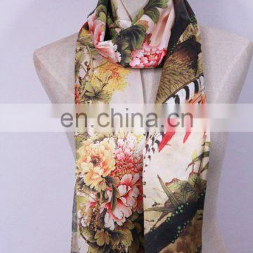 Digital Print Custom Design Silk Scarf
