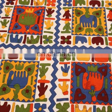 Jaipuri animal print 100% cotton handmade design 1 double bedsheet with 2 pillow covers