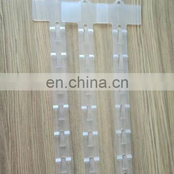Supermarket Injection Plastic Clip Strips For Shelf
