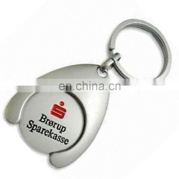 Reusable shopping trolley coin keychain