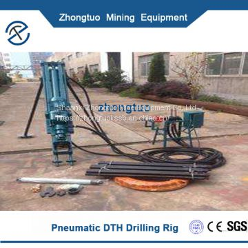 Portable DTH Drill Worked With Air Compressor