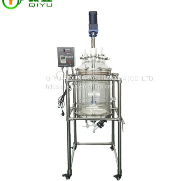 Made In China High Efficiency 100l Glass Chemical Reactor