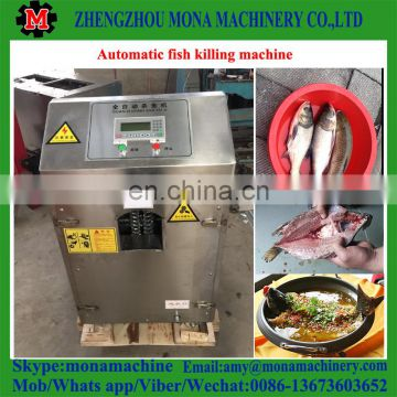 Automatic fish fillet machine/fish killing gutting cleaning machine