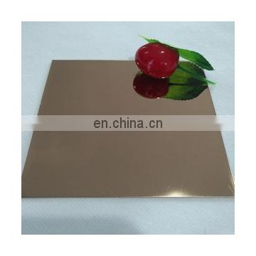 Gold Hairline Finish Colored Plate 1mm 2mm Etched Stainless Steel Sheet