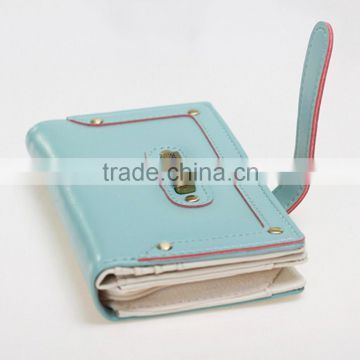 Cute short women wallet with zipper pocket